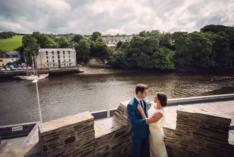 Weddings at Castle Castle, looking out over the river.