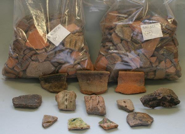 Artefacts found and displayed at Cardigan Castle