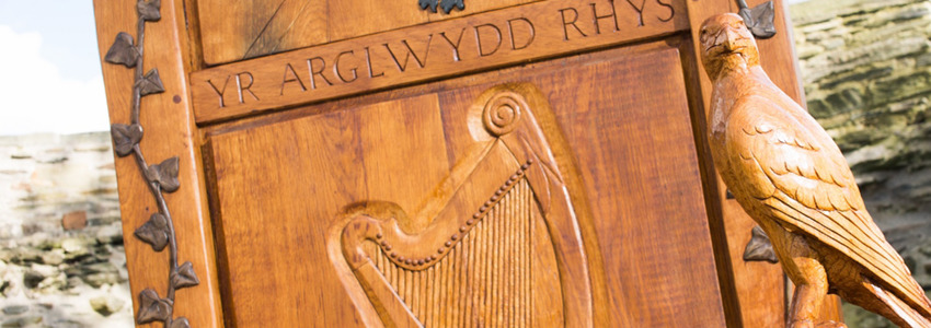 Part view of the Eisteddfod chair