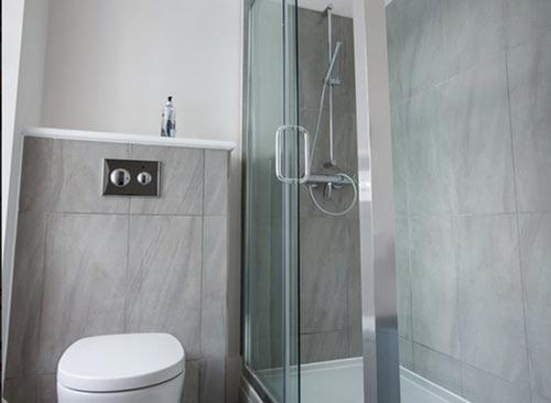 B&B room bathroom at Cardigan Castle