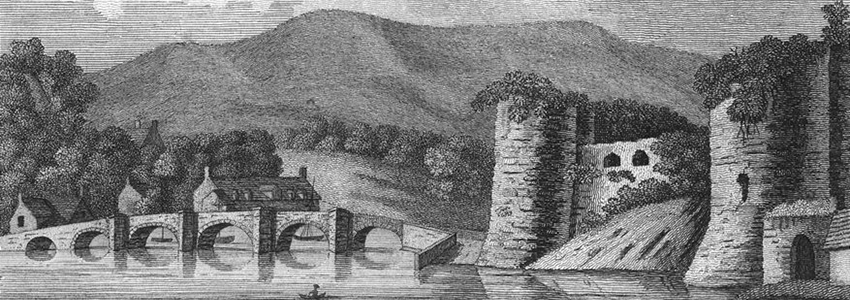 An image of the history of cardigan castle.