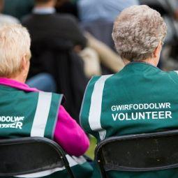 Volunteers at Cardigan Castle.