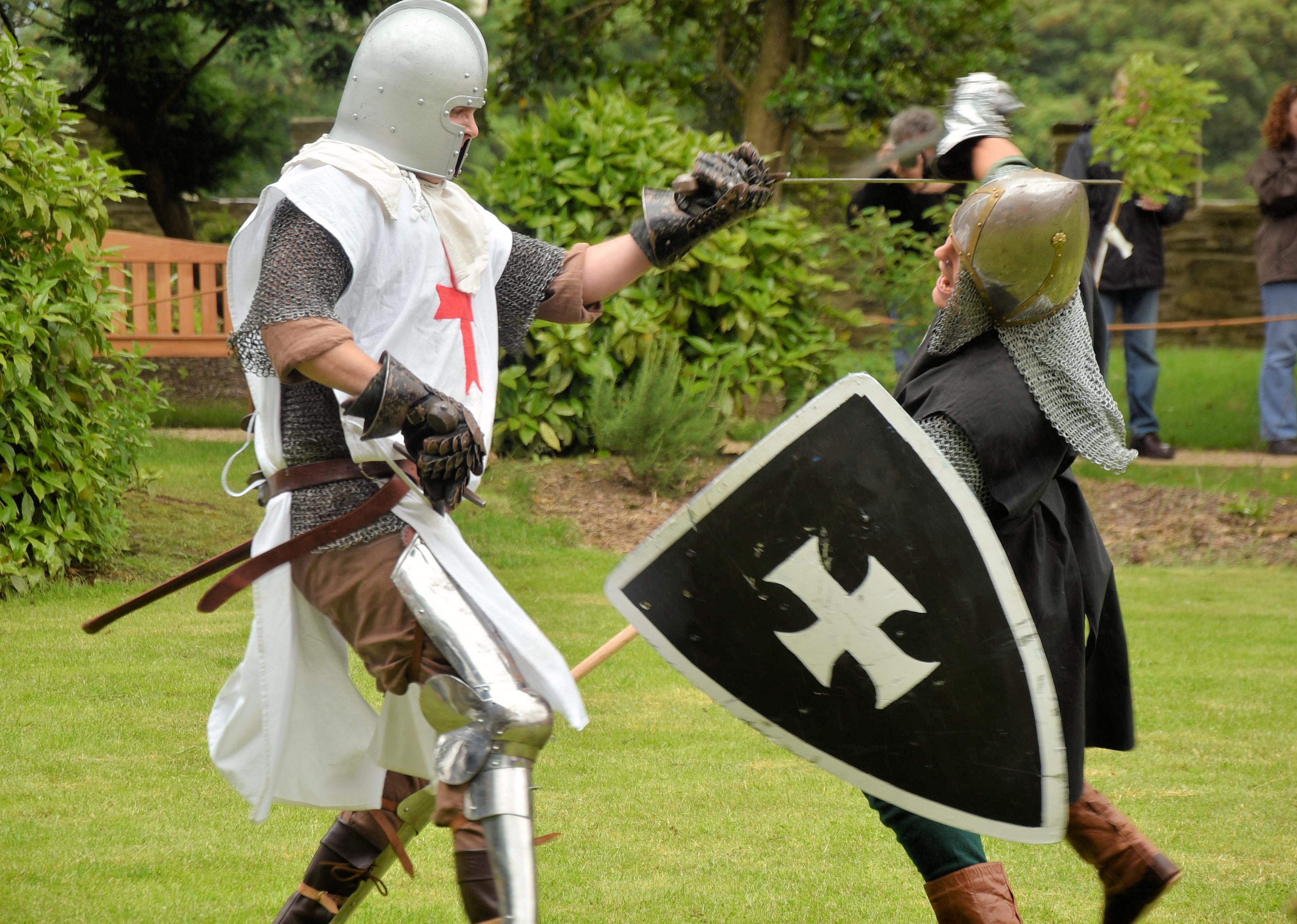 Knights Battling at Cardigan Castle.