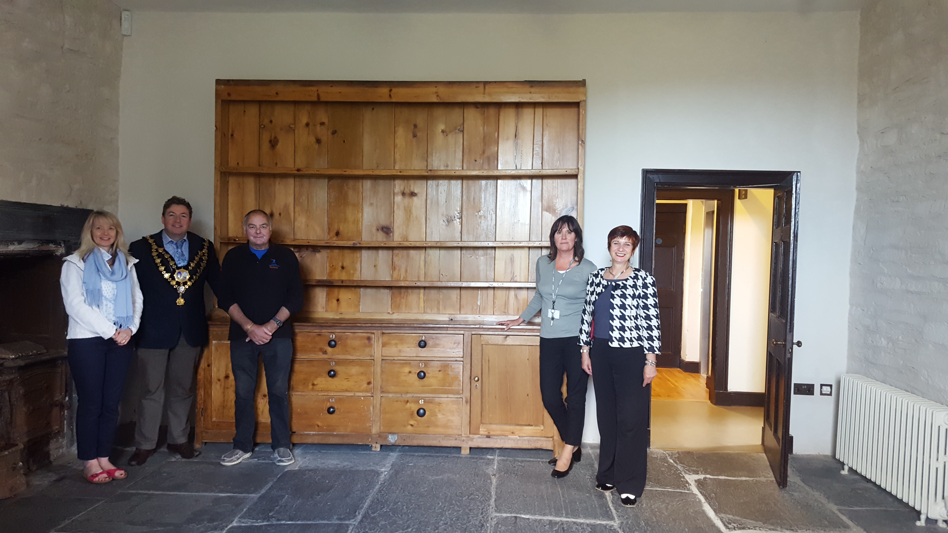 A Dresser at Cardigan Castle.