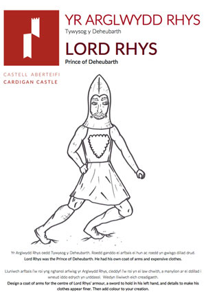 Lord Rhys Education Book - Cardigan Castle.