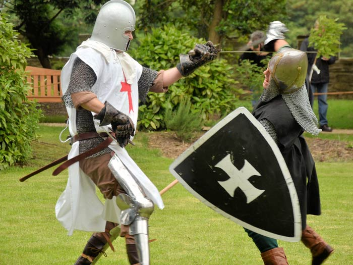 Knights Battling at Cardigan Castle.