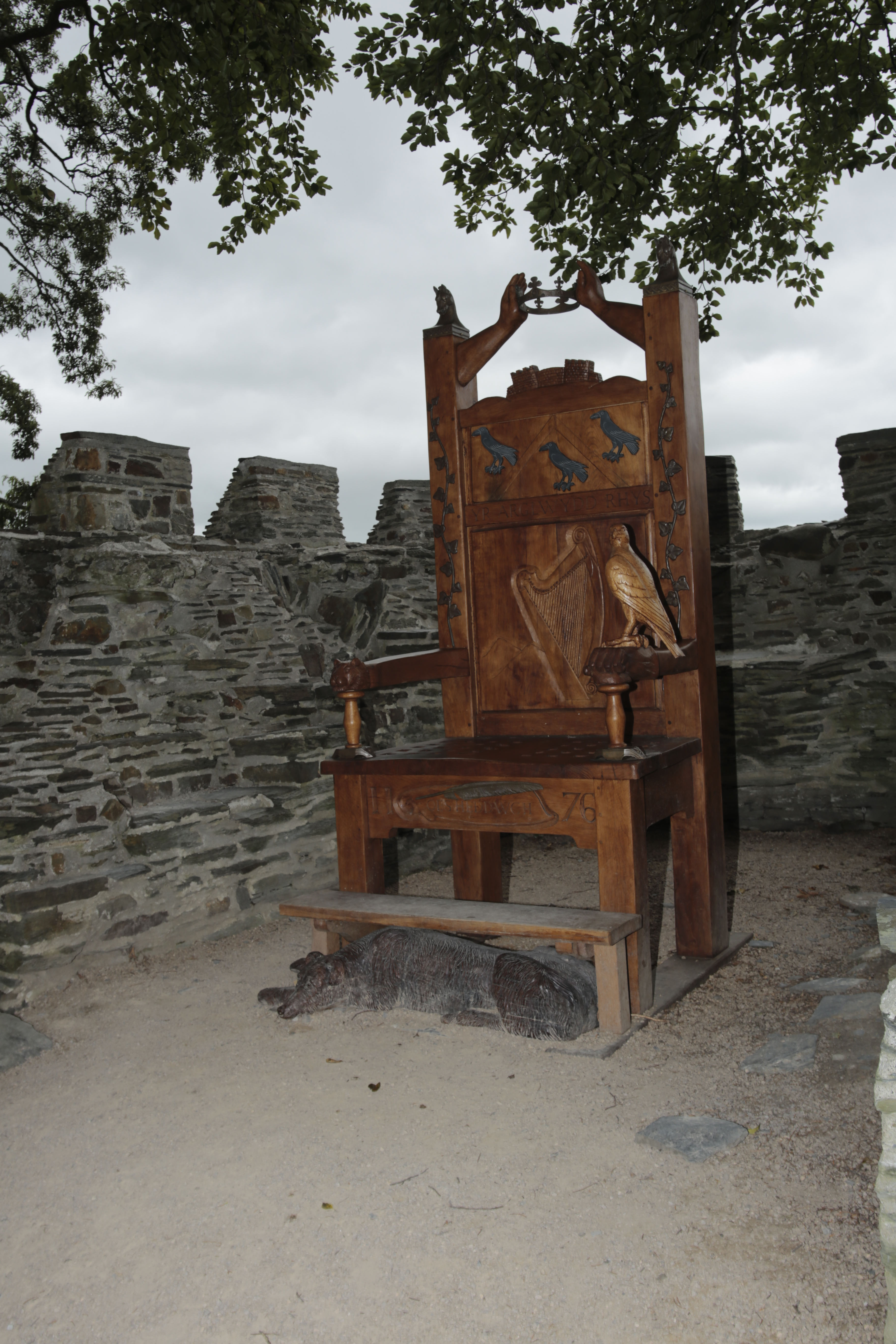 Eisteddfod Chair at Cardigan Castle.