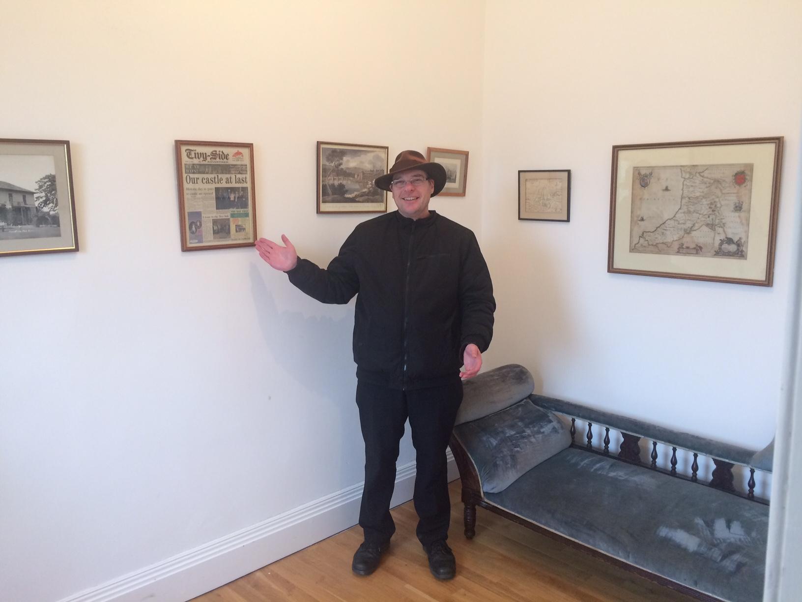 Glen, our tour guide at Cardigan Castle.