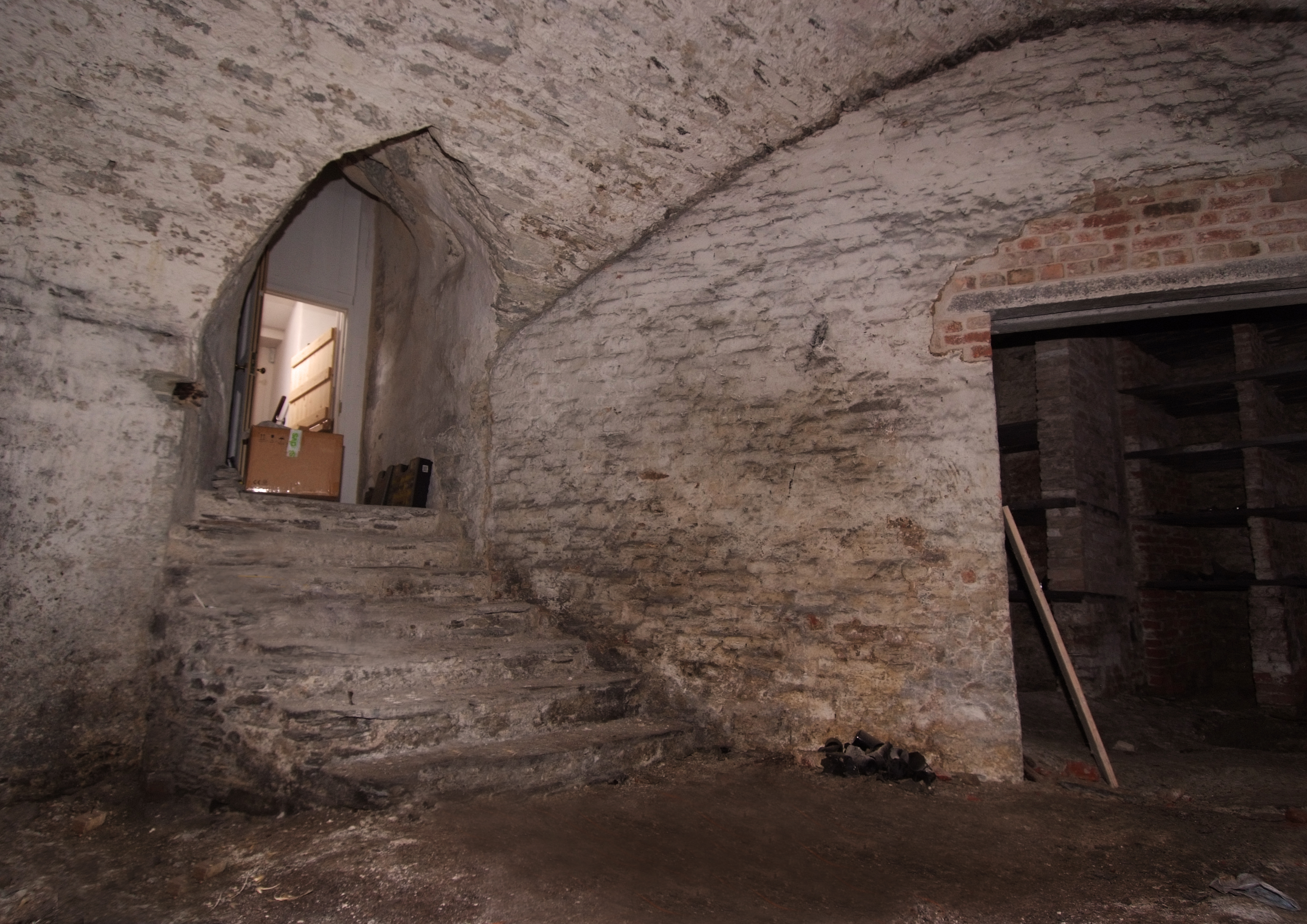 Inside the underneath of Castle Castle.