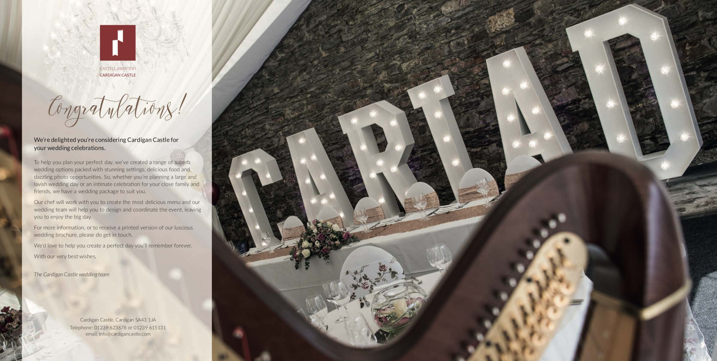 Cardigan Castle Wedding Packages